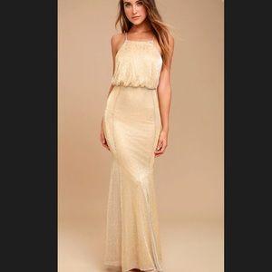 Formal Gold Maxi Dress